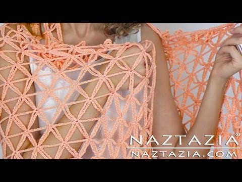 DIY Tutorial – Learn How to Crochet Flower of Life Chain Shawl – Star Stitch