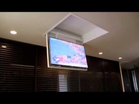 Soporte de techo para ocultar las pantallas de tv youtube - Tv en la pared ...