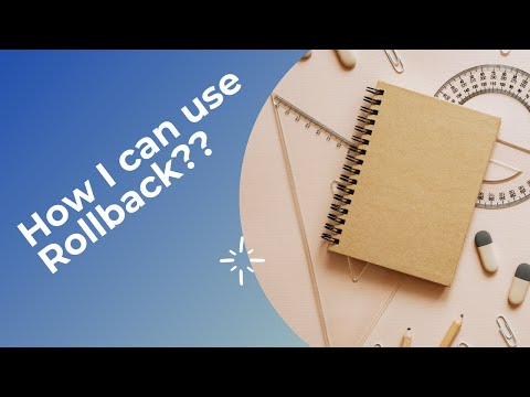 Use Update with rollback in SQL