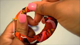 Gambar cover How to Make Fabric Covered Hoop Earrings