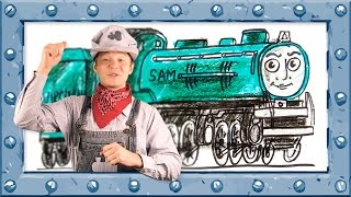 How to Draw Sam ♦ Thomas and Friends ♦ Drawing and Colors Learning video for  Preschoolers