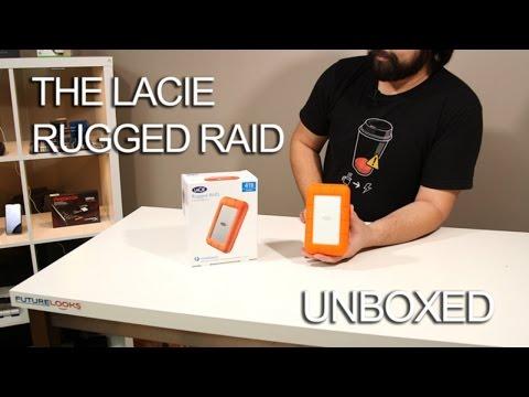 [HD] LaCie Rugged RAID 4TB Thunderbolt Portable Hard Drive Unboxed