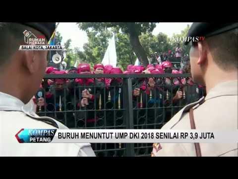 Demo Buruh Tuntut UMP Jakarta 2018 Rp 3,9 Juta