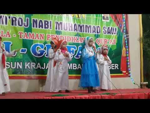 """Karaoke """"Alhamdulillah"""" Peringatan Isra' Mi'raj TPA Al Ghifari Jombang"""