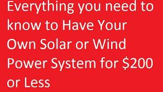 How To Make Wind Turbine - Fast Diy Homemade Wind Power & Homemade Solar Power