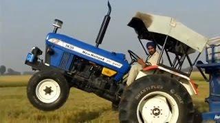Video mobil traktor jungkir balik lucu ngakak