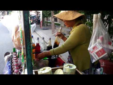 Street Drink in Asia, Cambodian street drink, Various street drinks in Cambodia