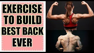 Do this exercise to grow your Back Muscles . Best for Beginners.