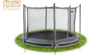 Veiligheidsnet InGround Trampoline Avyna PRO-LINE I trampoline.nl I Montage Instructies