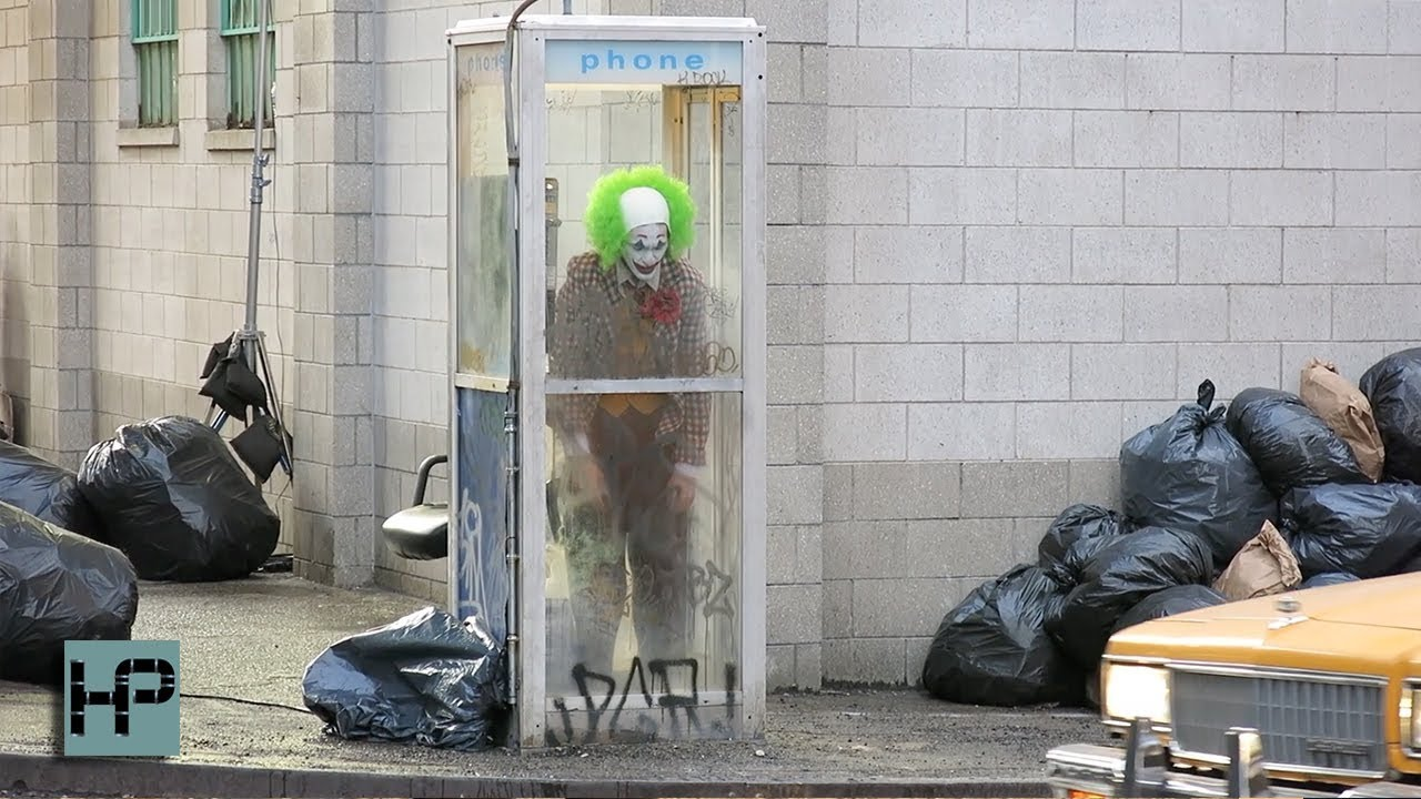 Joaquin Phoenix Looks Wild While Filming in Full Joker Costume