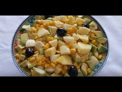 recette-salade-aux-pomme-maïs-oeuf-avocat