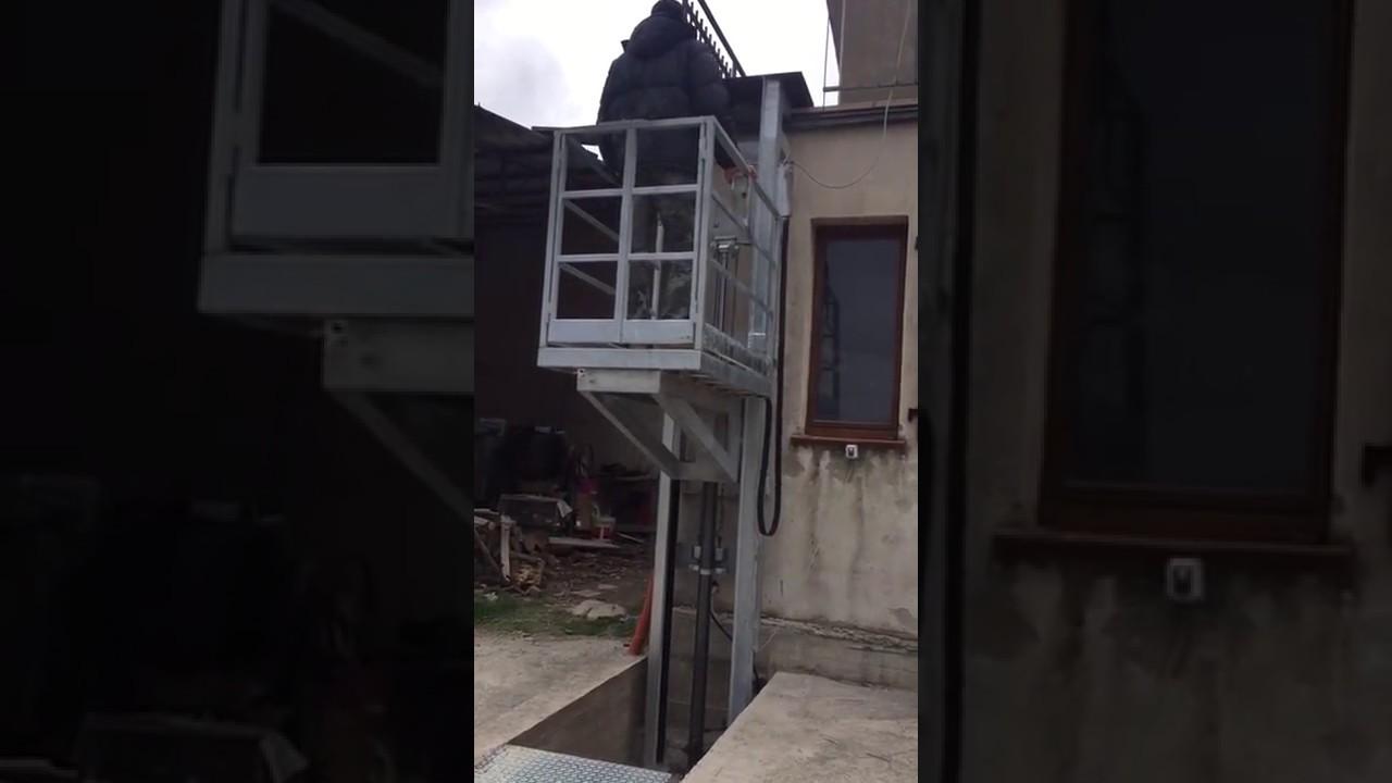 Ascensore per disabili e normodotati montacarichi youtube for Montacarichi da balcone per legna