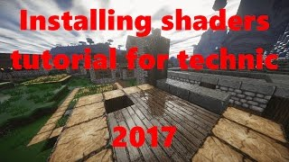 Minecraft Technic Launcher - Feed the beast - How to install shaders and shader mod tutorial 2017