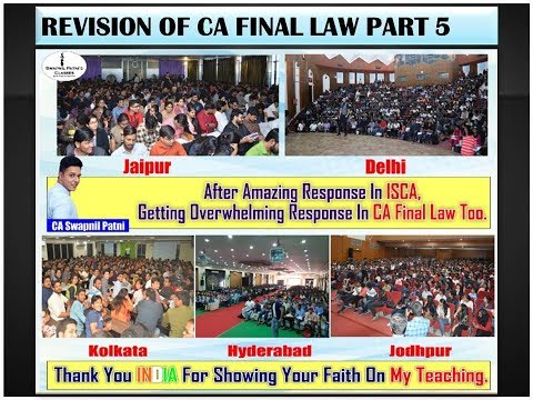Revision of CA Final Law [Part 5] for May 2018 By CA,CS,LLB Swapnil Patni