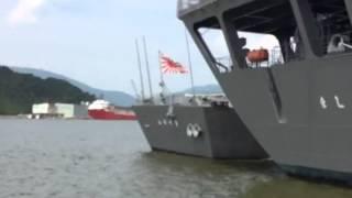 護衛艦ふゆづきのソナー点検