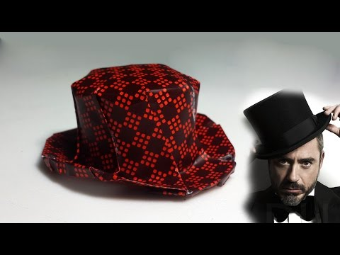 Origami Top hat tutorial with diagram - DIY (Henry Phạm)