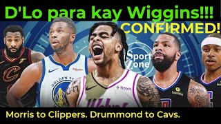 LATEST TRADES. D'Angelo Russell PARA Kay Andrew Wiggins! Marcus Morris Clippers Na. Drummond to Cavs