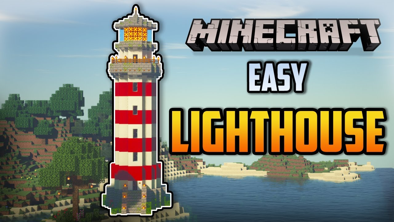 Minecraft : How to build a LIGHTHOUSE ( EASY )