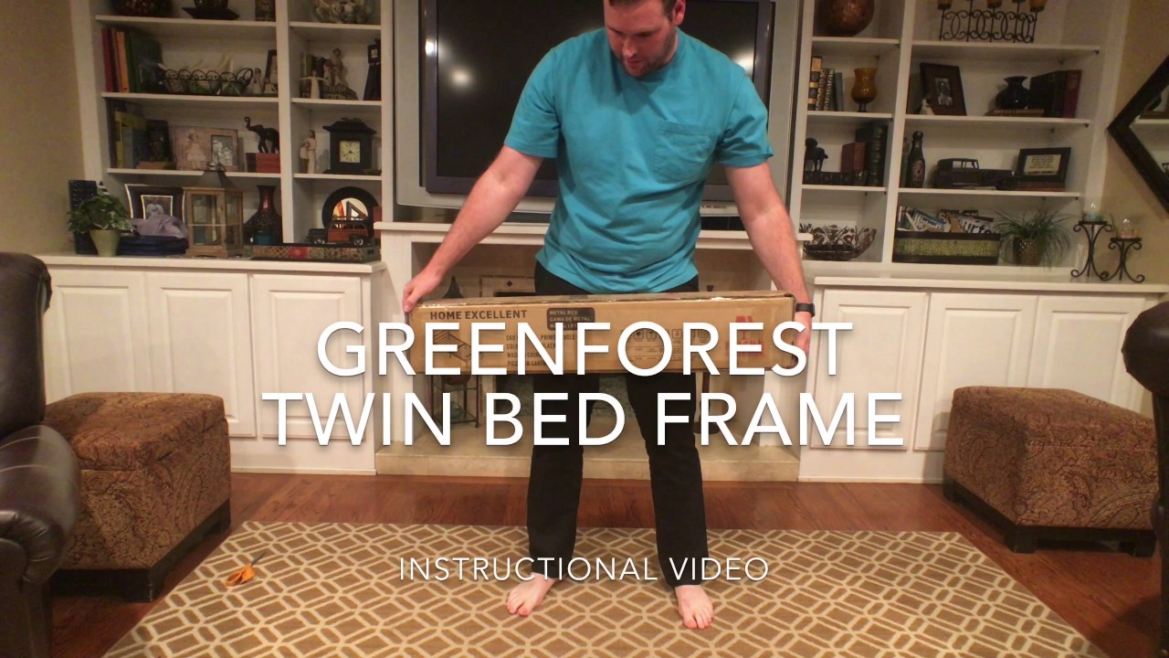 tutorial green forest metal twin bed frame product link in description - Metal Twin Bed Frame