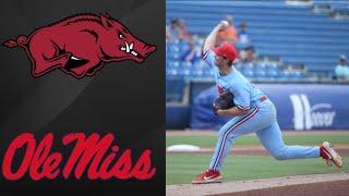 Arkansas vs Ole Miss SEC Tournament 4th Round | College Baseball Highlights