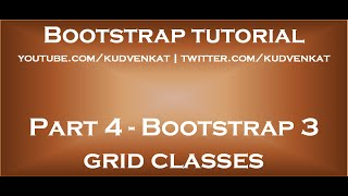 bootstrap 3 grid classes