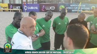 Referee preparations-Africa Beach Soccer Cup of Nations Egypt