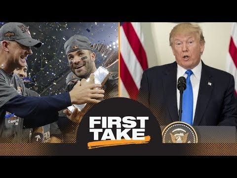 First Take reacts to Astros accepting invitation to White House   First Take   ESPN