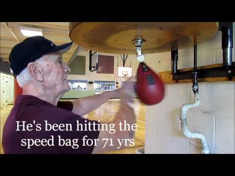 85 Yr Old Grandpa Rips The Speed Bag!!!!!