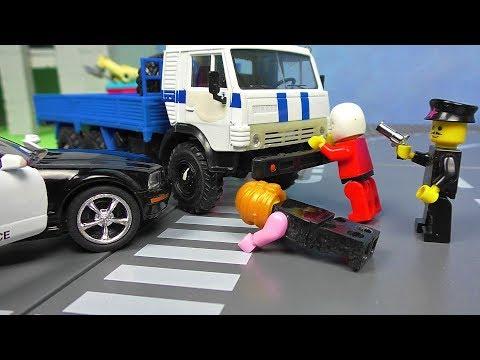 Камаз 1000 лс и Скания. Гонки грузовиков. Камаз мультик. Полицейская погоня.