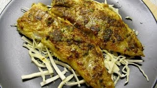 Pan fried fish fillets (with Indian spices)