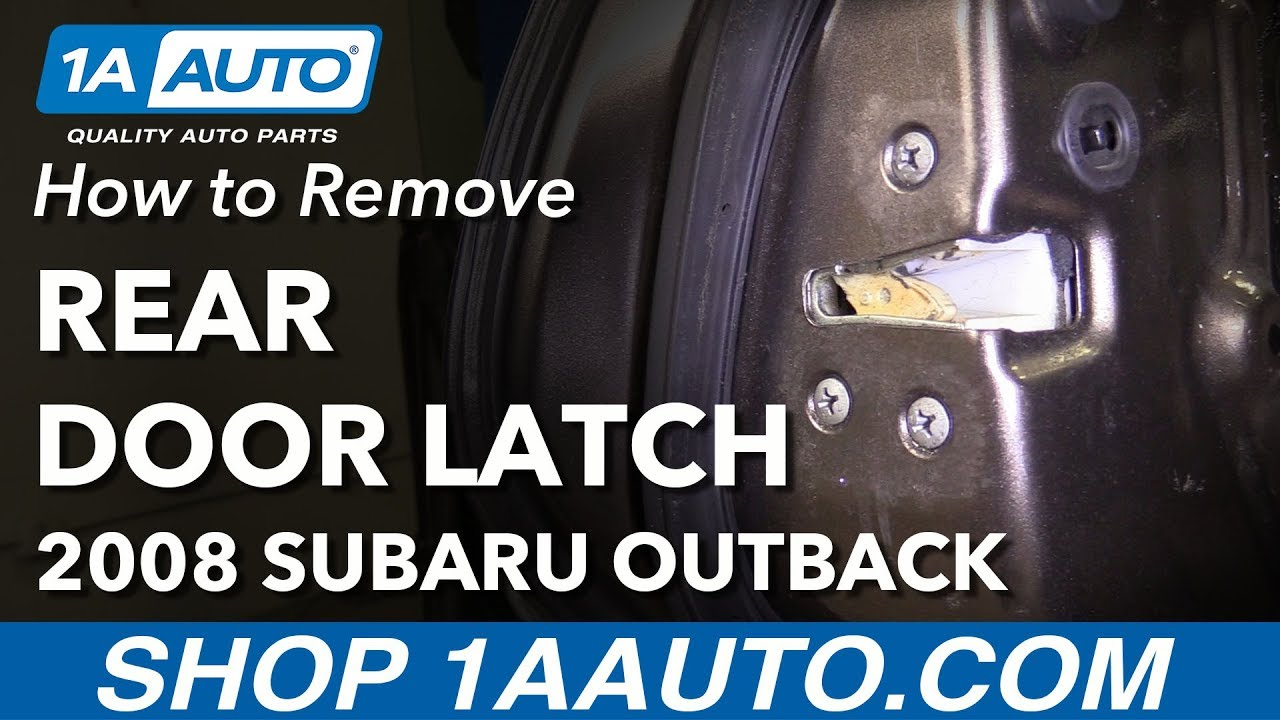 2006 Subaru Outback Rear Hatch Wiring Harness Expert Schematics Mirror How To Remove Replace Door Latch 2008 Youtube