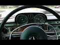 Behind the wheel driving mercedes w108 280se