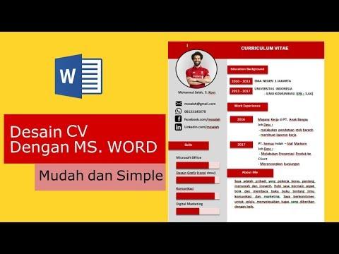 Cara Membuat CV dengan ms word : Mudah dan Simple (2018)