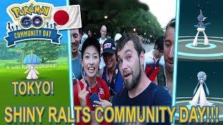 CRAZY SHINY LUCK IN TOKYO!!! RALTS COMMUNITY DAY POKEMON GO!