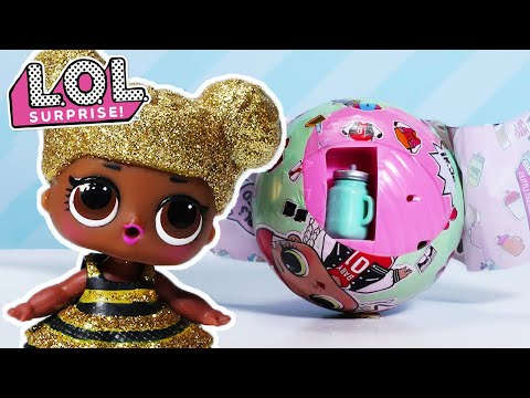 Real LOL Surprise Dolls Glam Glitter Queen Bee UNICORN LIL Sister Pet toy