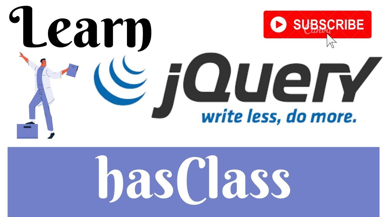jQuery Lecture - 28 hasClass Method Tutorial in Hindi / Urdu