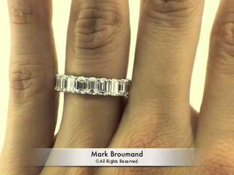 550ct emerald cut diamond eternity band mark broumand