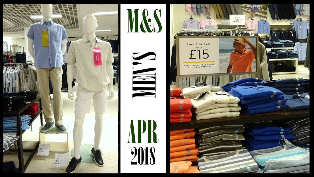 ? M&S   Marks And Spencer   Men's   Casual Clothes   Spring Summer   April 2018   Walkthrough HD 1