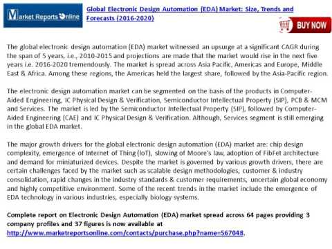 World EDA Market (Electronic Design Automation) Trends Analysis and Forecasts To 2020