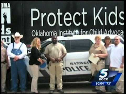 Western Flyer Express Owner Rodney Timms Brings Awareness to Child Abuse KOCO
