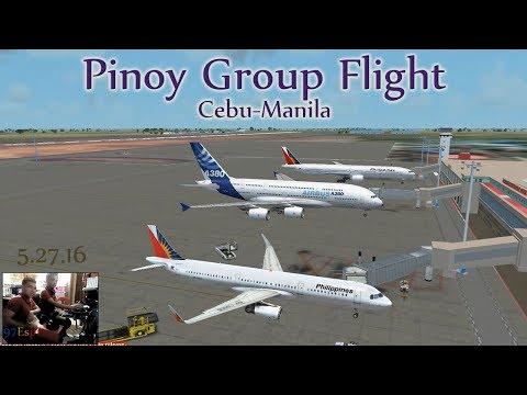 FSX VATSIM Group Flight + ATC Cebu to Manila 05.27.16 #2 Philippine Airlines A321