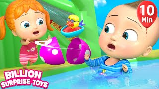 Little Babies Playtime | Inflatable water TOY - 3D Baby Nursery Rhyme & Kids Song