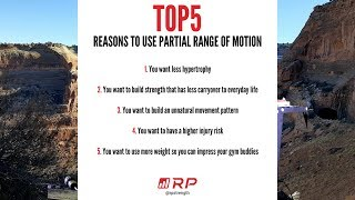 Dr Mike Israetel Lists The Top 5 Reasons To Use Partial Range Of Motion On Exercises!