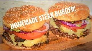 Homemade Steak Burger Recipe! - Burger Recipe Flat Top Griddle - Camp Chef Flat Top Grill
