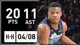 Dennis Smith Jr. Full Highlights Mavericks vs 76ers (2018.04.08) - 20 Pts, 11 Assists