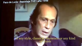1) How to really follow Paco de Lucia/ Are you causative or effect in music ?/Learn via Skype R.Diaz