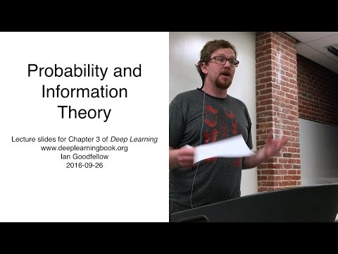 Deep Learing Chapter 3 Probability presented by Pierre Dueck