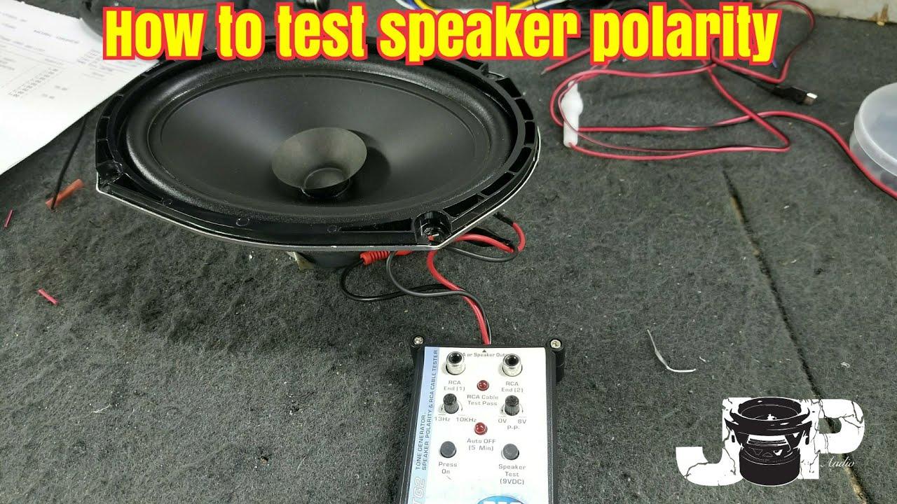 Speaker Polarity Checker : How to test speaker polarity phasing youtube