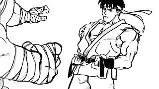 HOW TO DRAW RYU  リュウ