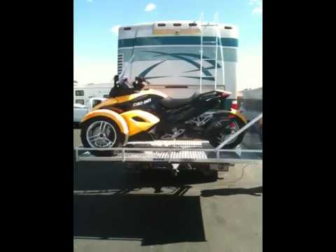 Rv Motorcycle Lift For A Can Am Youtube